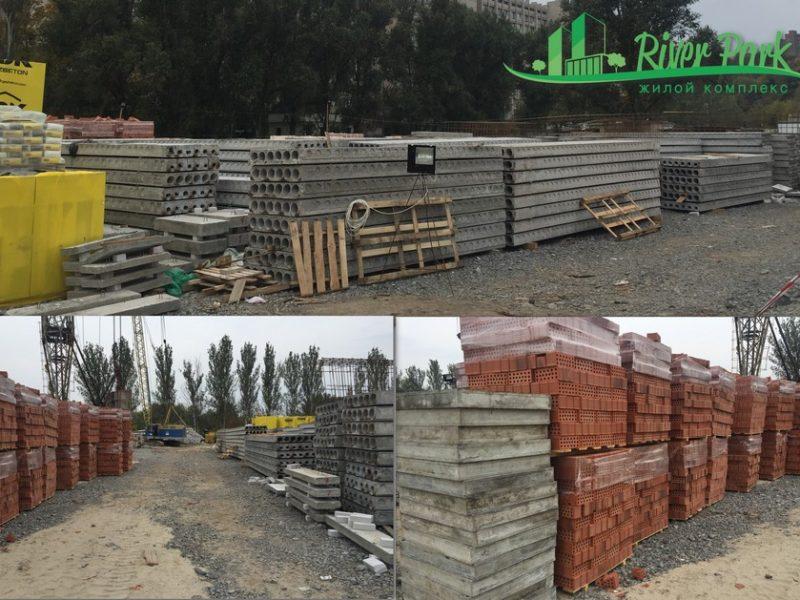 Строительные материалы доставлены и ждут своей очереди