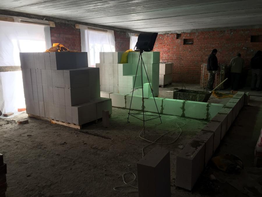 4 этаж кладка газобетона