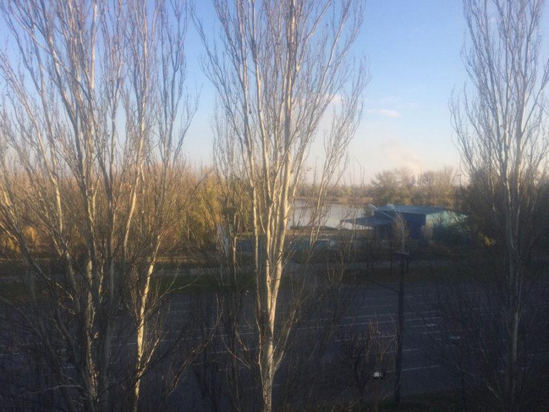 Панорамный вид на реку с квартиры 57,9 м2, 4 этаж