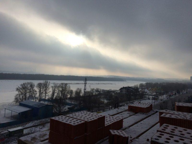 Вид на реку с 10 этажа