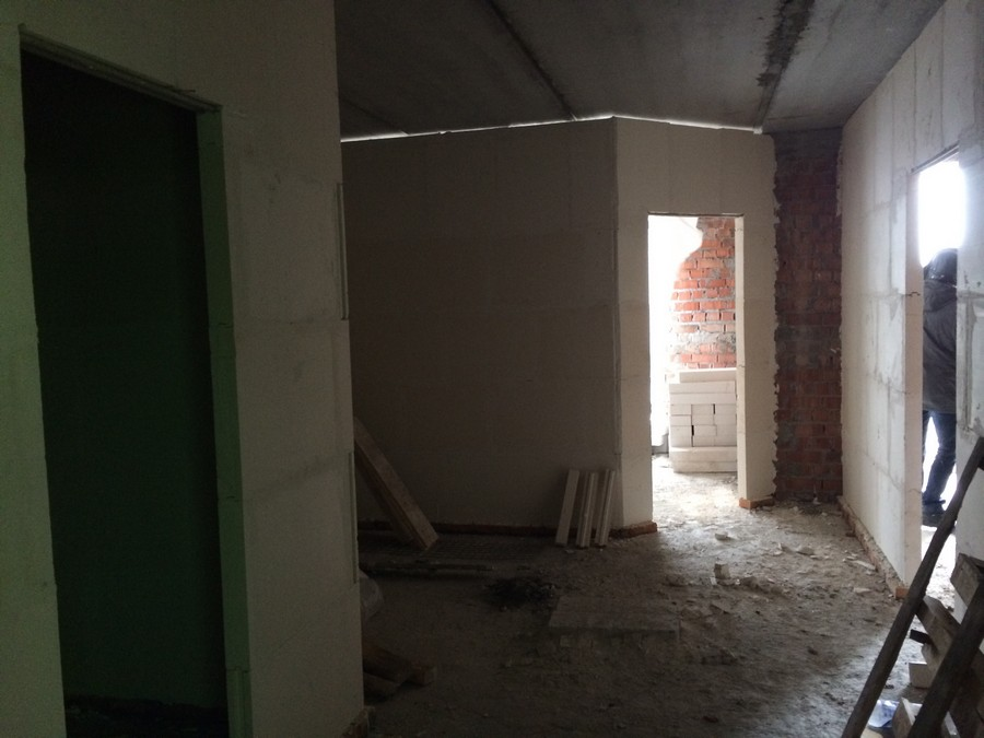 Наглядный пример того, как из однокомнатной квартиры можно сделать двухкомнатную. Квартира 57,4 м2