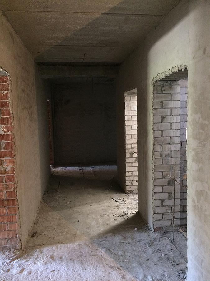 штукатурка 6-го этажа 3-ей секции.