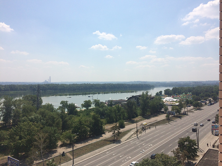 Вид в сторону Днепра