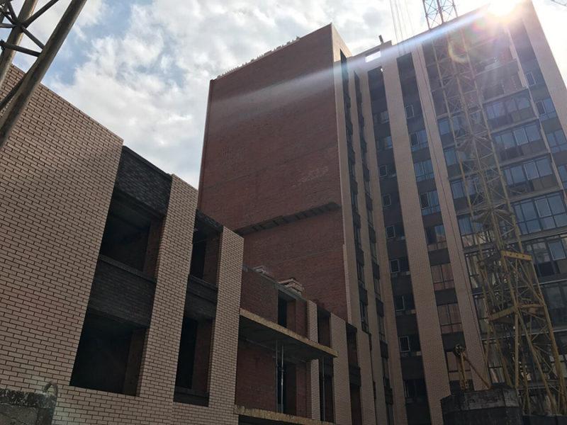 Кирпичная кладка, 3 этаж 10 секция
