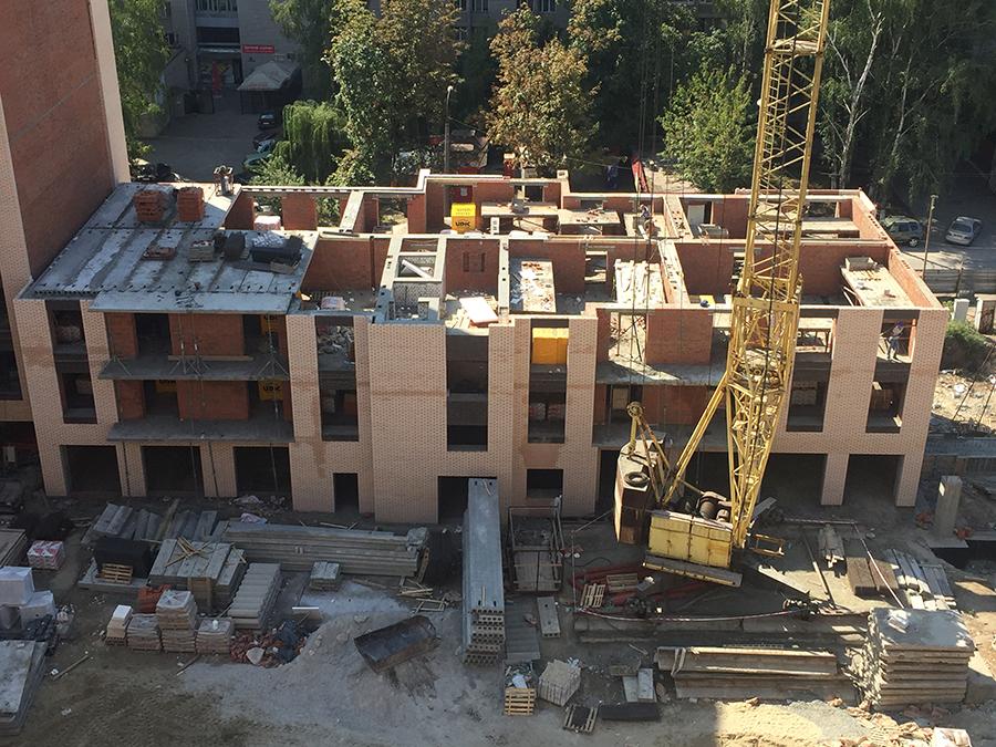 перекрытие третьего этажа в 8 секции