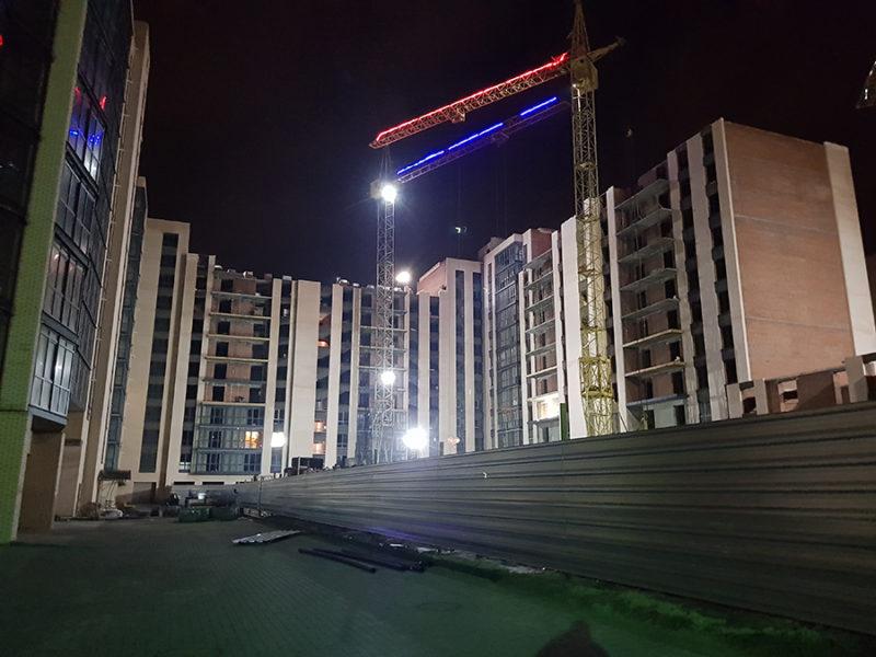 Ночной двор комплекса