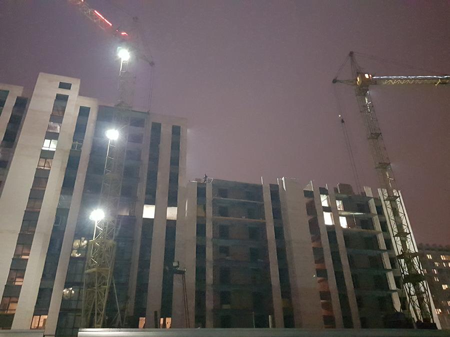 Секция № 7. Этап строительства 8-ого этажа.