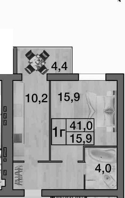 Квартира в размерах