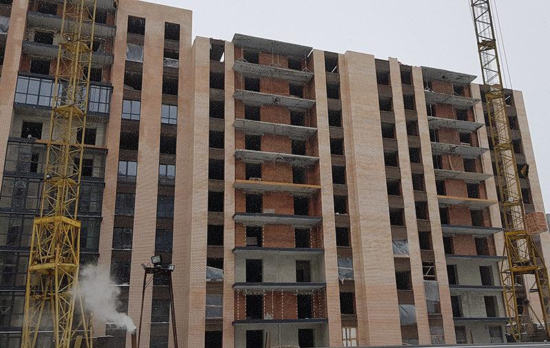 Кладка 12-го этажа в 7-ой секции
