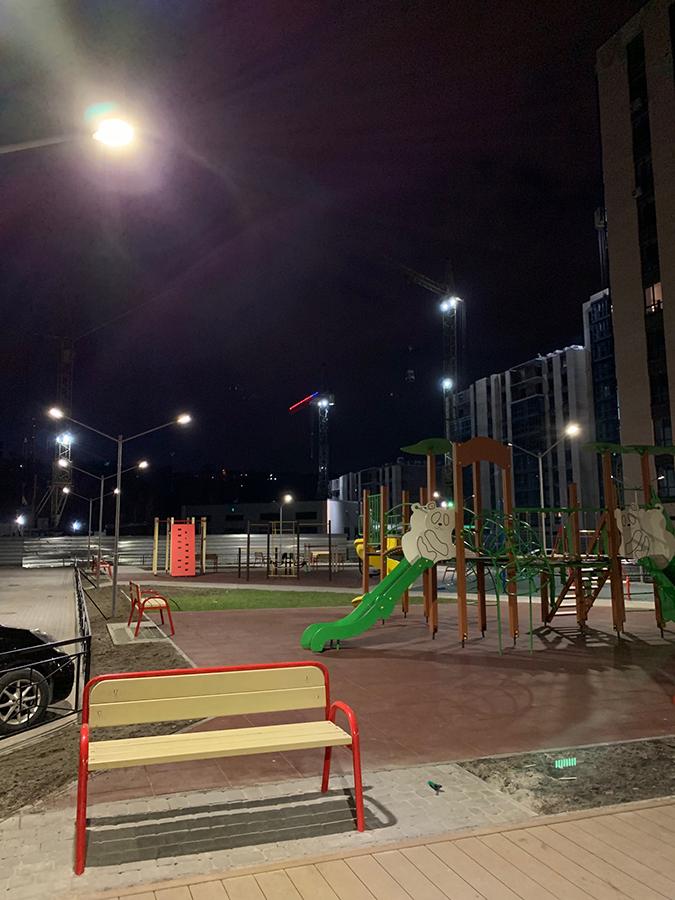 Когда строительство красиво и ночью
