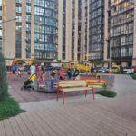 одна из детских площадок нашего ЖК